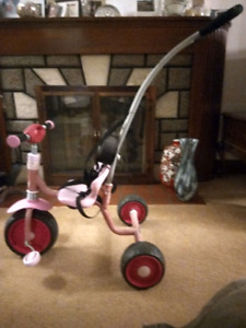 PINK PREMA PUSH TRICYCLE HAUCK