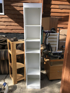 Nice and Tall White Bookcase For Sale