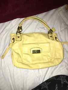 Medium Sized Yellow Coach Purse