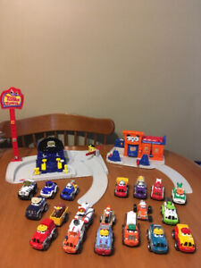 Tonka town police and service station with cars trucks