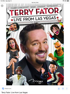 Two Terry Fator tickets/Las Vegas/March 25