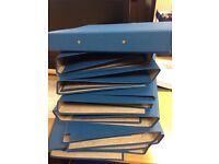 20 A4 blue folders - unused