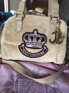 Judy couture velour handbag purse light brown  Belleville Belleville Area image 2