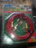 Dog Tie Out Cables 1/2 price brand new