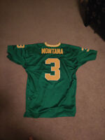 Alternate green 1979 Joe Montana ADIDAS True School jersey sz 52