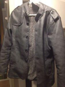 Medium Euro Faux Leather Jacket $35