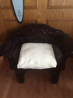 Gorgeous hand crafted chair new condition