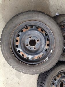 Studded Winter Tires / 185 65 15. 4 lug 4.5 inch or 114.3mm