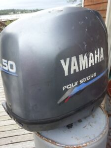 SOLD SOLD Yamaha 50hp 4-stroke electric, tilt for parts