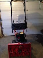 For sale, Troy-Bilt 2 Stage Snow Thrower