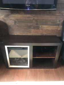 Tv media unit with fire place