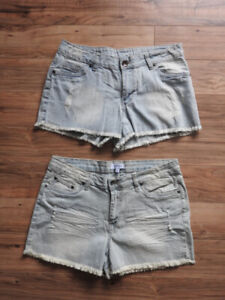 BRAND NEW jean shorts - $5 each! (size 8-10, fit like 10-12)