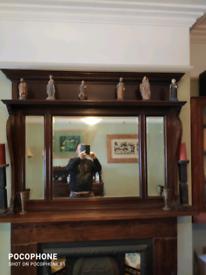 Victorian mantle piece mirror
