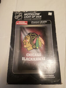 Chicago Blackhawks Light Up Sign