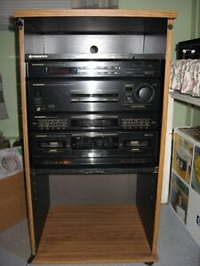 vintage -Pionner RX-521 stereo cassette, tape deck, radio