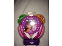 Tiny phones JVC kids headphones sealed and in packaging in pink and yellow