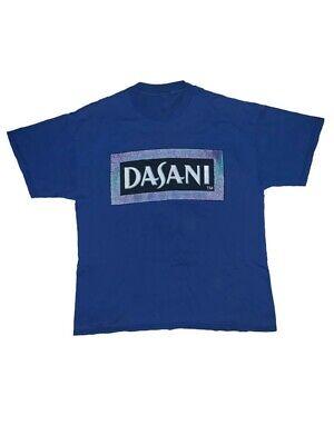 Vintage 90's Dasani Water Coca Cola T Shirt Blue Size Large Rare