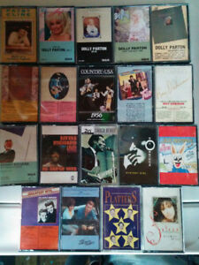 Cassettes Dolly Parton, Roy Orbison, Kenny Rogers, Everly Brothe