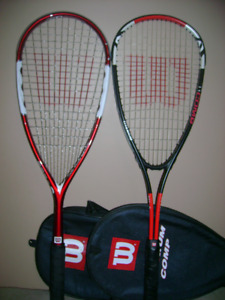 Black Knight and Wilson squash racquet for sale