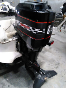 Mercury 70hp 2 cycle with controls and gauges