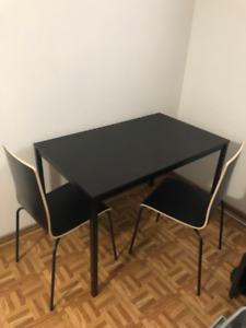 IKEA small kitchen table with 2 matching chairs