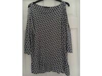 M&S Ladies cold shoulder top Size 16.