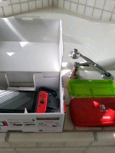 Nintendo switch with case.