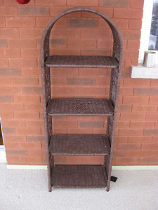 WICKER BOOKSHELF