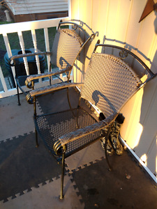 STURDY Wrought Iron Patio Chairs
