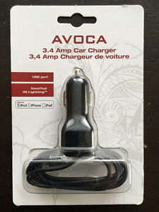 Avoca Dual Port 3.4 Amp Car Charger for Apple iPhone