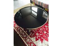 Round beautiful glass table
