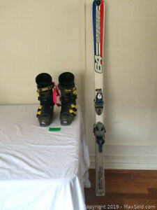 Dynastar downhill skis and Raichie Boots