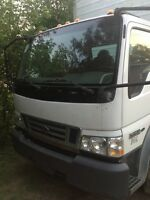 Ford LCF 4.5L V6 diesel engine with 18 FT cube van for sale.