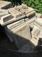 Dalle de patio et bloc pour Muret et brique