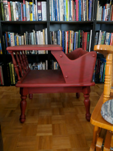 Custom Painted  Antique telephone table
