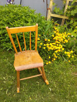 VERY SOLID ROCKING CHAIR....CHECK OUT OTHER ADDS