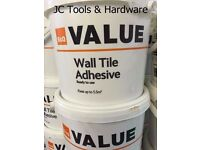 Wall Tile Adhesive Covers 5.5M SQ COLLECTION ONLY