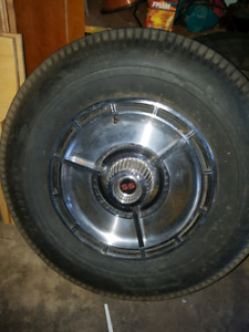 Early 60's Impala SS spare tire rim and hubcap