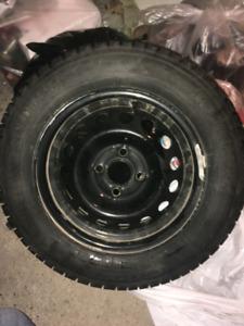 "4 x 14"" Winter Tires on 4 Steel Rims"