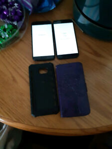 Two Samsung A5 (2017) With Cases