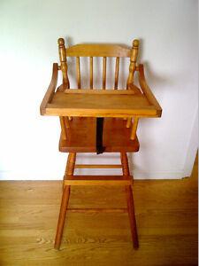 Sturdy Solid Wood High Chair