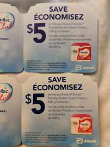 $20 worth of Similac coupons