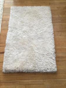 White furry mat for home decor