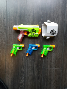 Nerf Pistols x6 for Sale