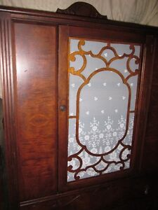 CONTENT SALE! 1920s Walnut Antique China Cabinet--BEST OFFER