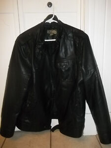 Men's Leather Look Jacket For Sale