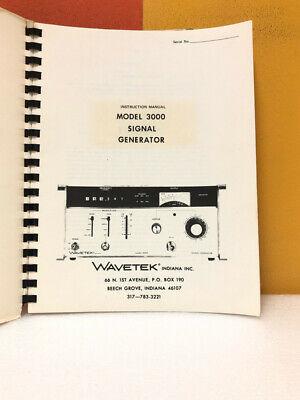 Wavetek Model 3000. Signal Generator Instruction Manual