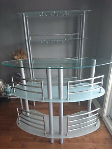 2 pieces GLASS BAR