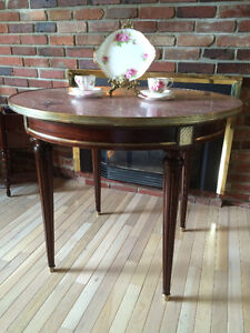 """19th Century Red Marble """"Bouilotte"""" Table"""