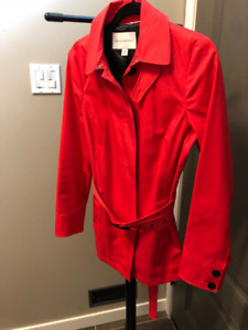 RED TRENCH COAT (by BANANA REPUBLIC)